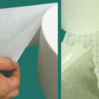 Spunlace adhesive non-woven (wavy-coated technology)