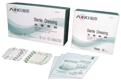 Transparent waterproof wound dressing